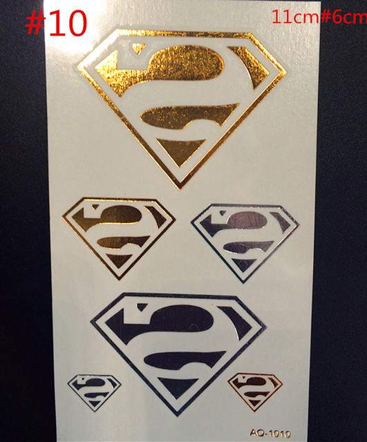 Body Art Tattoo Stickers Of Design Of Gem Shiny Metallic Gold And Silver Temporary Tattoo Flash One-time Tattoo