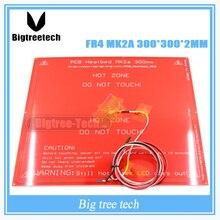 300*300*2.0 MK2A RepRap Рампы 1.4 печатной платы heatbed MK2A + LED + резистор + кабель + 100 К Ом термисторы печатной платы тепла кровать