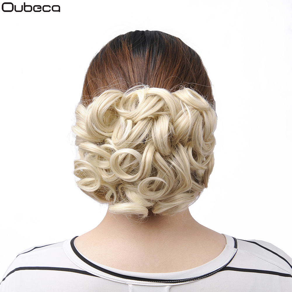 Oubeca Short Messy Curly Hair Buns Extensions Easy Stretch Hair Combs Scrunchie Chignon Clip In Ponytail Extensions For Women