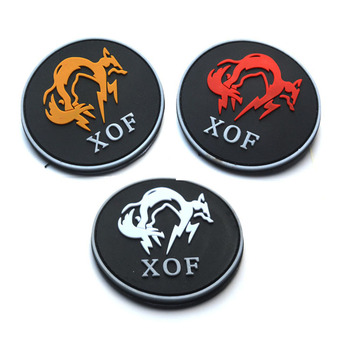 Metal gear solid XOF Military Army Tactical PVC Rubber Patches For Clothes Clothing Emblem Appliques Badges image