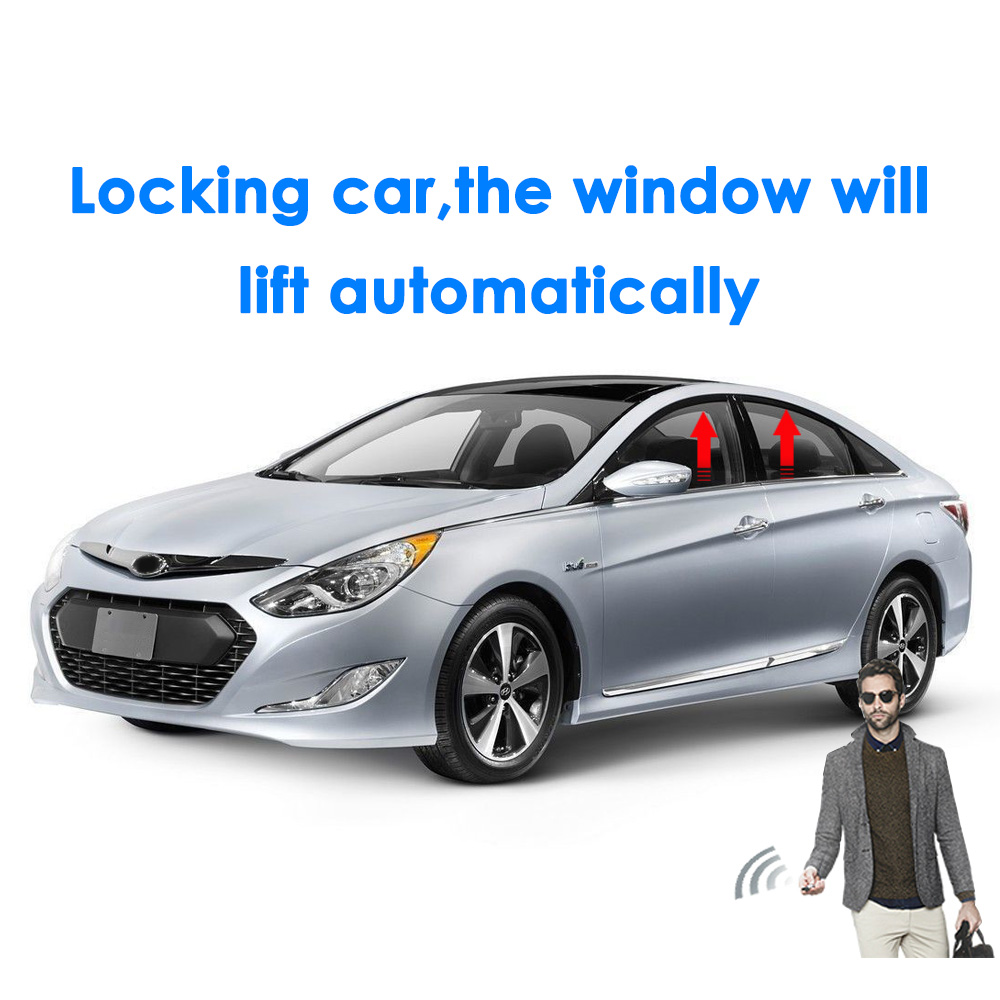 how to make car windows close with alarm