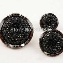 10 шт./лот черная швейная кнопка для свитера объемные кнопки швейные принадлежности, пуговицы(SS-3021