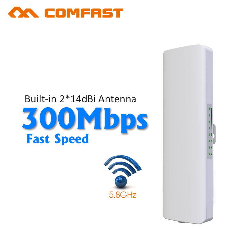 ФОТО 300Mbps COMFAST Outdoor Access Point 5.8G Waterproof 14dB Antenna Wi FI wireless Network Router CPE Nanostation RJ45 Lan 48V POE