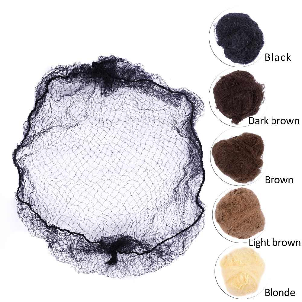 50pcs/20pcs Sample Order Five Colors Nylon Hairnets Black Brown Coffee Color Invisible Soft Elastic Lines Hair Net