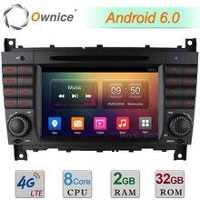 Android 6.0 Octa core 2 ГБ Оперативная память 4 г FM автомобильный DVD Радио для Benz clk430 clk500 clk550 clk55 AMG clk63 AMG C Class C350 C32 C55 C63 AMG