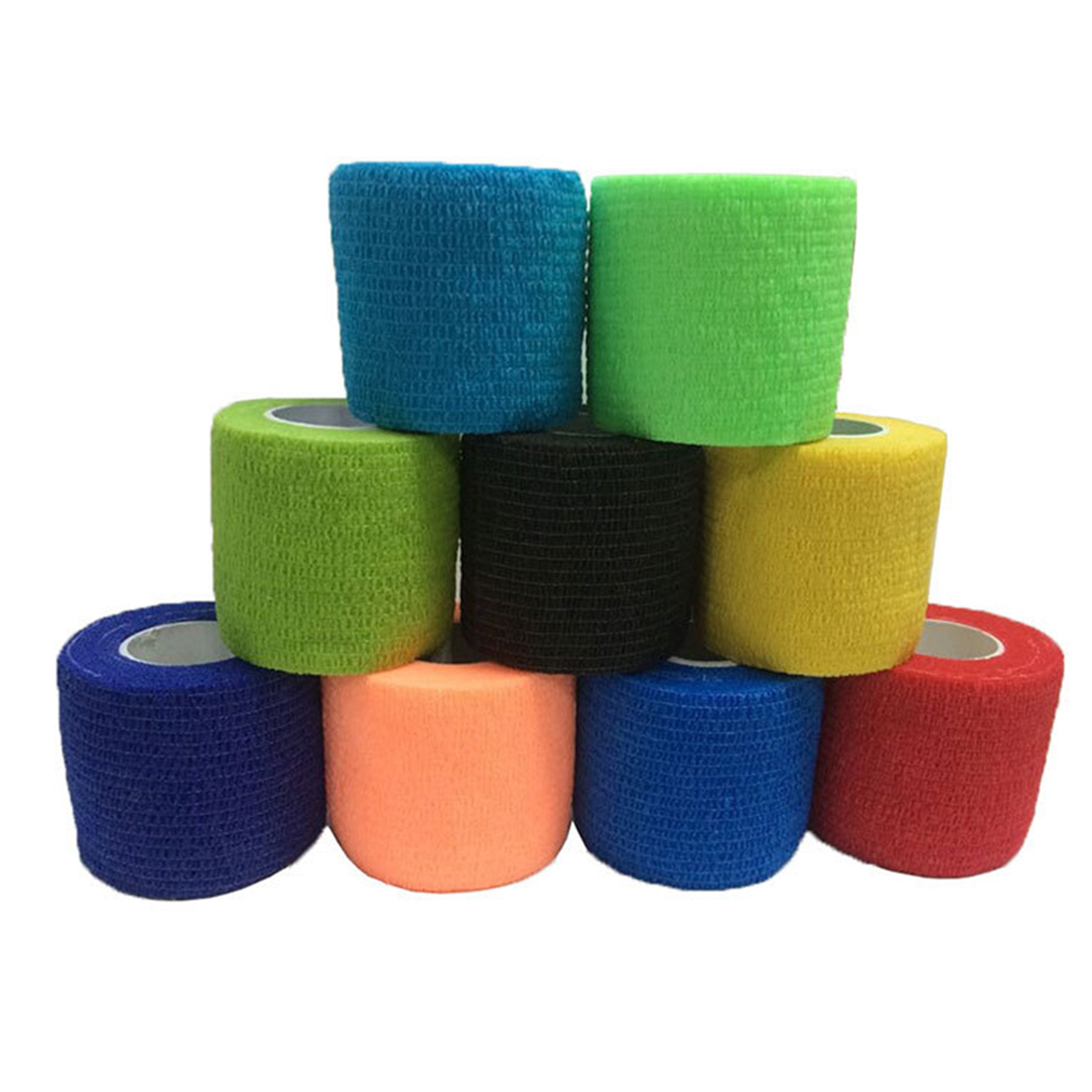 Non-woven Fabric Sports Self Adherent Wrap Tape Medical Elastic Adhesive Bandages 10cm*4.5m