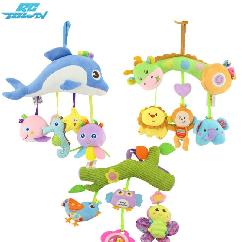 RCtown Kids Stroller And Travel Activity Toy Baby Musical Bed Hanging Toys Car Seat Stuffed Zk25