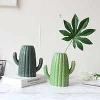 Nordic style cactus vase ceramic crafts flower pot living room flowers decoration vase home decoration accessories modern gift
