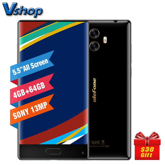 Original Ulefone MIX 4G Mobile Phones Android 7.0 4GB+4GB Octa Core Smartphone Dual Back Cameras 5.5 inch Full Screen Cell Phone