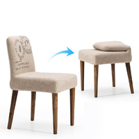 100 Wood Dining Chair Bar Chair Line Chair Living Room Sofa Leisure Cloth Living Room Furniture