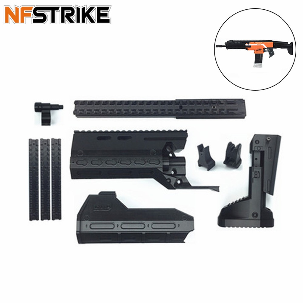 NFstrike Maliang Improved Suit for NERF Stryfe PLA Material Changed ACR Appearence Modified Kit Type C - Black