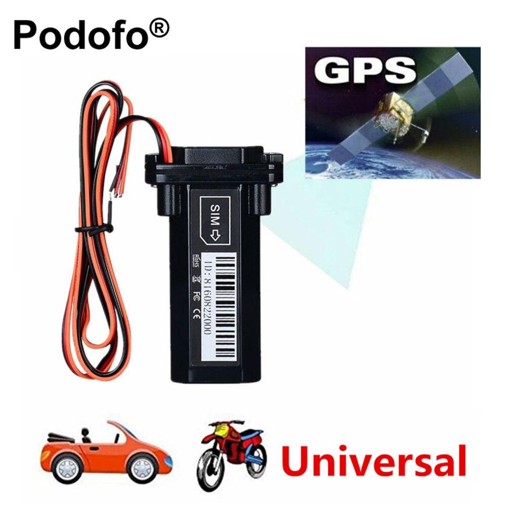 Оригинальный podofo Универсальный Водонепроницаемый gsm GPS трекер для мотоциклов устройства слежения с отслеживанием реального времени Системы