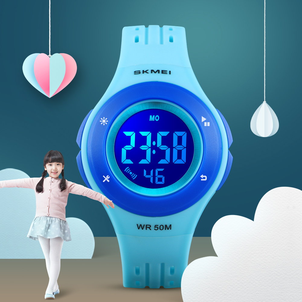Skmei Children Watch Kids Watch Silicone Watch Electronic Digital Clock Wristwatches For Child And Girls Quartz enlarge