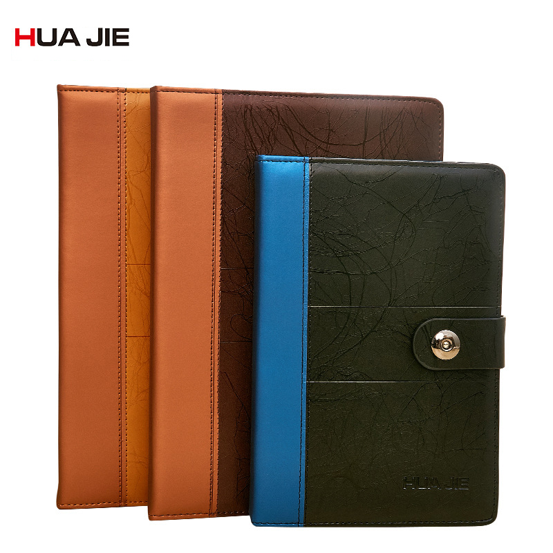 Diary Notebook Office School Home Supplies Business Notebook Magnet Buckle Leather Copybook Planner Organizer Notebook PC0004