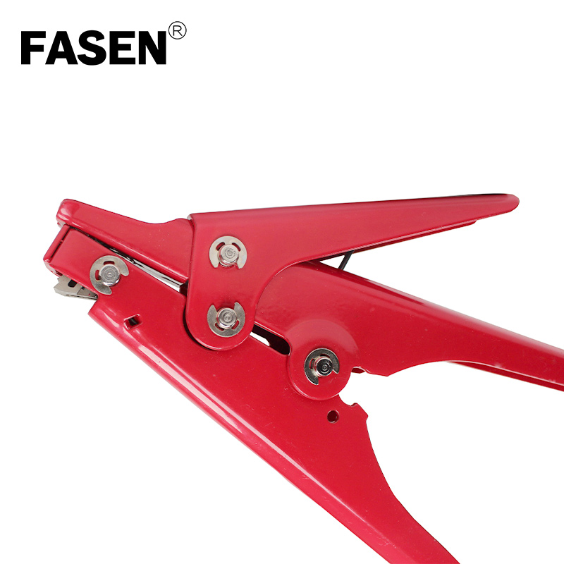 Red 2 4 9 mm Cable Tie Gun Tensioning and Cutting Tool for Plastic Nylon Cable Tie plier or Fasteners circlipstang in Pliers from Tools