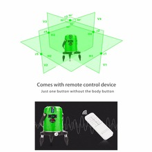 LETER lines Cross line Green laser level electronic system With remote control