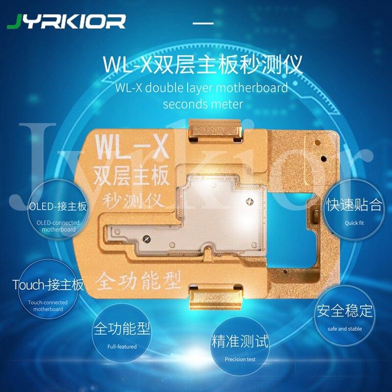 Jyrkior Многофункциональный WL iSocket джиг для iPhone X PCB Материнская плата тестовый держатель двухслойная логическая плата Тестер приспособление