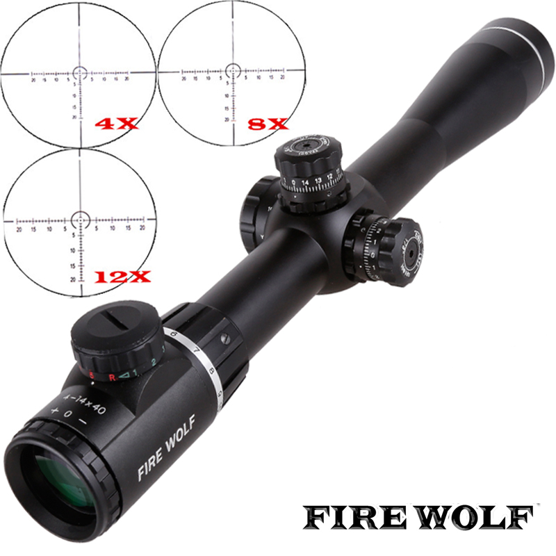 все цены на Fire Wolf 4-14X40SF Optics Riflescope Side Parallax Tactical Hunting Scopes Rifle Scope Mounts For Airsoft Sniper Rifle