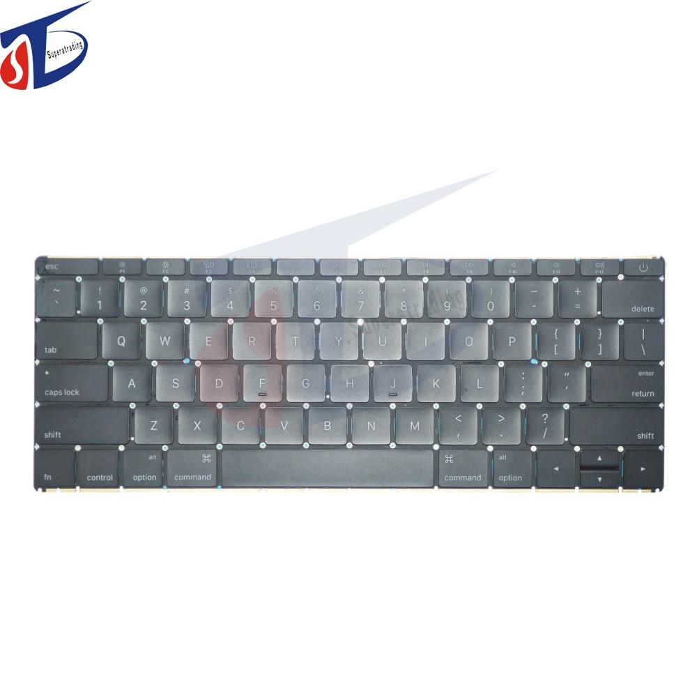 A1534 us clavier pour macbook retina 12 pouces A1534 clavier usa clavier sans disposition de rétro-éclairage début 2015 an
