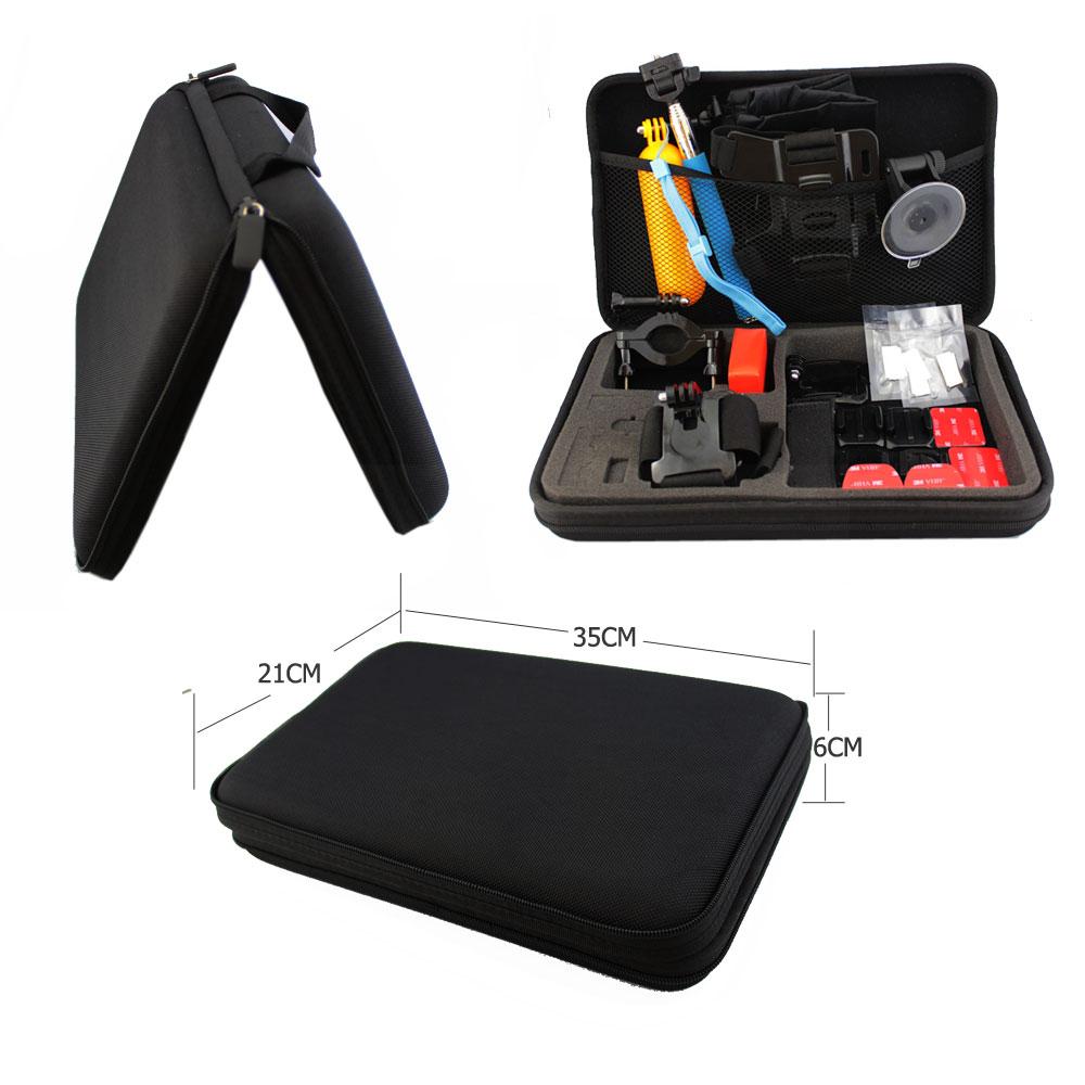 GoPro Accessories GoPro Case 4.0 Go Pro Bag Large Size for Hero 1234 Xiaomi Yi Action Camera Sjcam wif Sj4000 Digital Camera