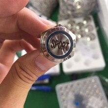 16 мм Водонепроницаемый Нержавеющая сталь металлический светодиодный Мгновенный кнопочный переключатель авто гоночный спортивный режим переключения переключатель подсветки Мощность