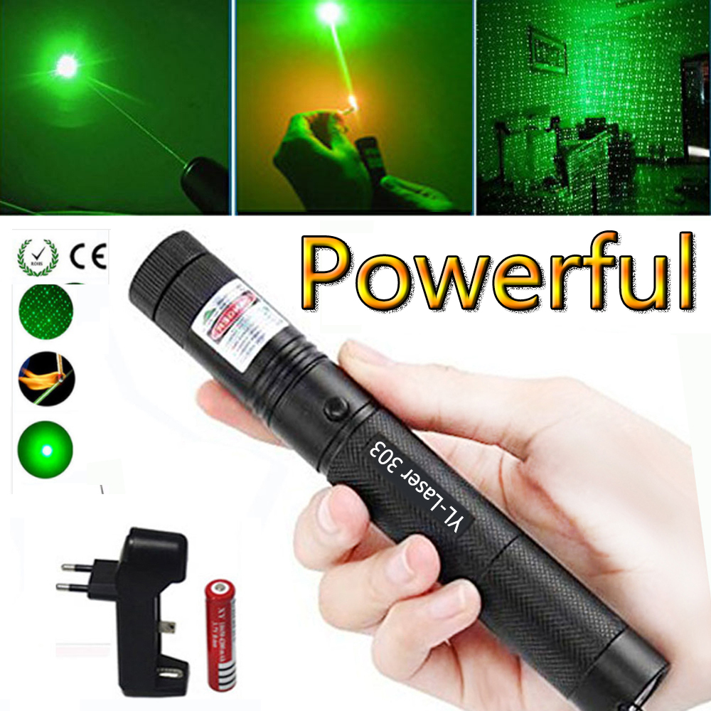 Green Laser Hunting Tactical sight High Power Green Dot tactical 532 nm 5mW laser 303 pointer verde lazer Pen Burning Match in Lasers from Sports Entertainment