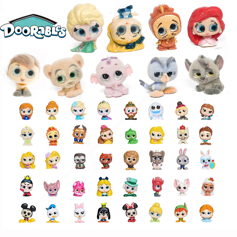 Doorables Rare Collection Flocking Series 1 & Series 2 Princess Doll Mickey Kid Toy MINI SIZE  Y19050901