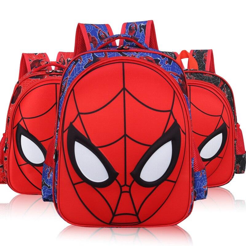 2018 Spiderman Superhero Junge Mädchen Baby Kindergarten Kindergarten Schule Tasche Bagpack Teenager Schulranzen Leinwand Kinder Schüler Rucksäcke
