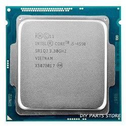 إنتل كور i5 4590 i5-4590 LGA 1150 3.3GHz رباعية النواة 6MB RAM DDR3-1600 DDR3-1333 HD4600