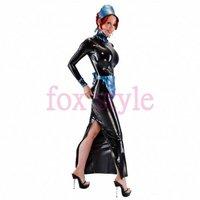 latex black Apron Dress lolita garment not including cap