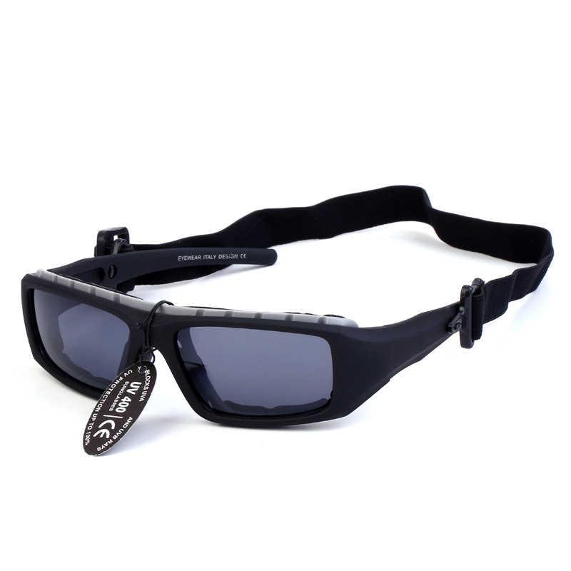 Крутые походные очки UV 400 Eye wear антибликовые ветрозащитные наружные  солнцезащитные очки унисекс для верховой езды da605e8676e