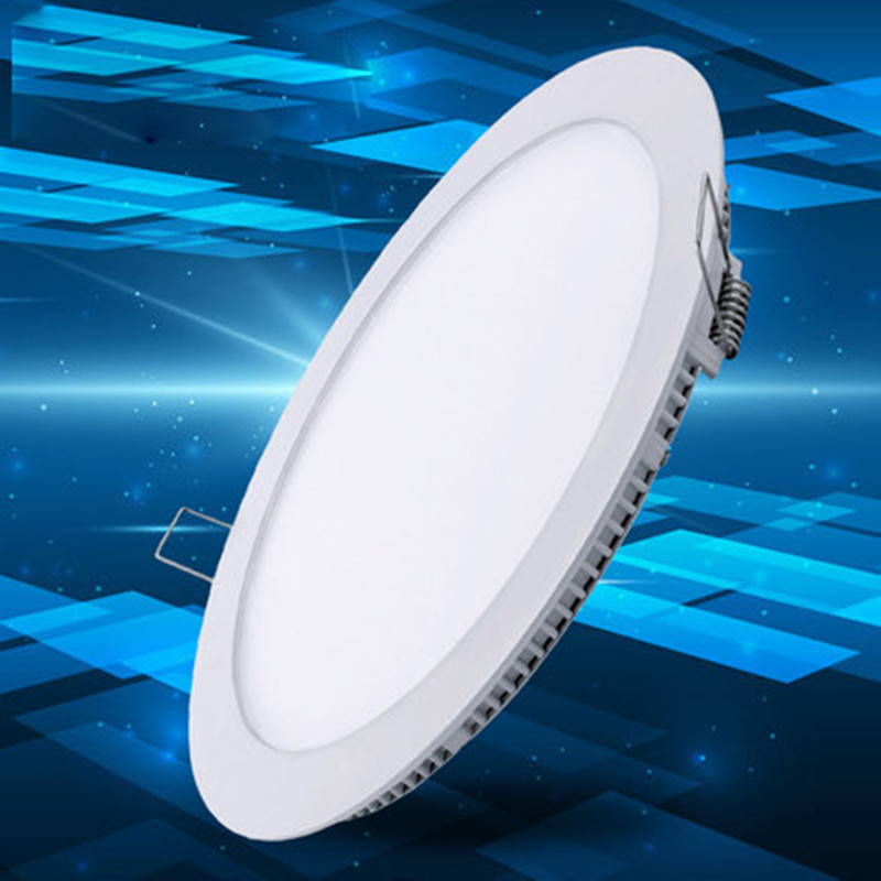1X Ultra Thin Led Panel Downlight 3w 6w 9w 12w 15w 18w LED Round Ceiling Light Built-in AC85-265V LED Panel Light SMD2835