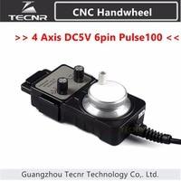 4 Axis Pendant Handwheel manual pulse generator 5V MPG Pulse 100 for Siemens, MITSUBISHI, FANUC,nc studio etc