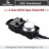 4 Axis Pendant Handwheel Manual Pulse Generator 5V MPG Pulse 100 For Siemens MITSUBISHI FANUC Etc