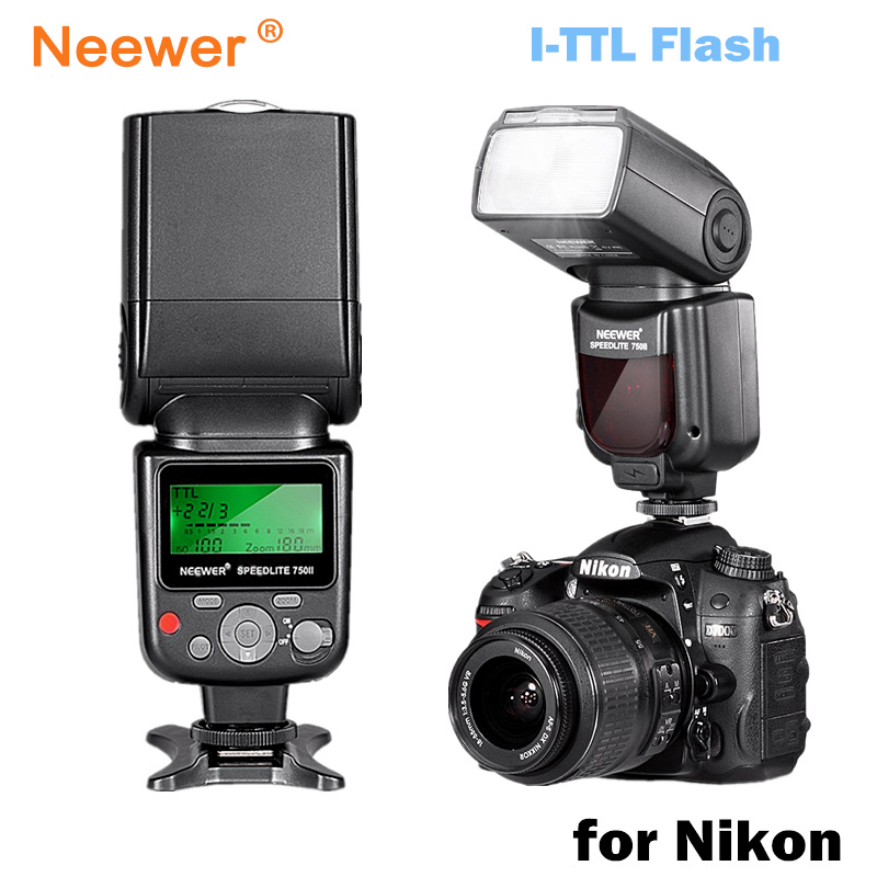 Neewer VK750 II i-TTL Flashlite Flash w / LCD Display untuk Nikon D7100 D7000 D5300 D5200 D700 D600 D90 D80 D80 Digital SLR Camera