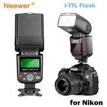 Neewer vk750 ii i ttl speedlite flash com display lcd para nikon d7100 d7000 d5300 d5200 d700 d600 d90 d80 d80 digital slr câmera