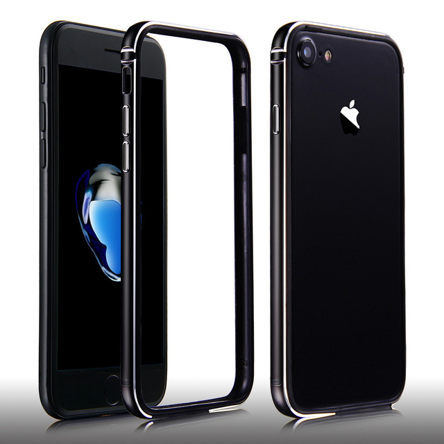 best sneakers c40f3 cf0af US $4.99 |Luxury Silicon Case For iPhone 7 Bumper Ultra Thin Soft Side  Protector +Slim Aluminum Frame Cover For iPhone7 7 Plus 7Plus Coque on ...