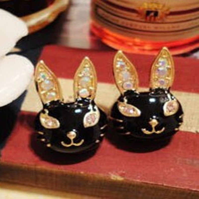 E399 Baru Fashion Eropa dan Amerika Fine Perhiasan Imitasi Kelinci Anting-Anting 3 Warna untuk Wanita Gratis Pengiriman