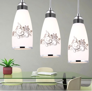 Straight Plate Disc Without Lights Chandeliers Creative Pendant Lamp LED Bar Three Restaurant Dining Room Lighting In From