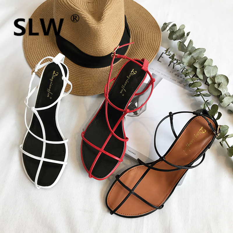 2019 Summer High Heel Sandal For Women Female Sandals All-Match Buckle Strap Spring Shoes Ladies Heeled Comfort Block Woman