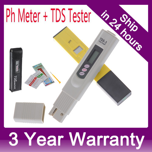 Digital PH Meter+Digital TDS meter PH tester Water Quality Purity tester for Aquarium Swimming Pools Laboratory 0-9999 PPM brand kedida digital tds meter pen type 0 1000 ppm lcd electrical conductivity meter atc aquarium pool water quality tester