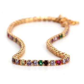 Evil Eye Anklet Feet Bracelet Gold Color Leg Ankle Chain for Women Colorful Micro Pave Zircon Summer Fashion foot Jewelry EY6317 4