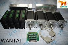 цена на Nema 34 Wantai Stepper Motor Single Shaft1600oz-in, 3.5A, 4-Leadings 4 Axis CNC Mill And 7.8A Control