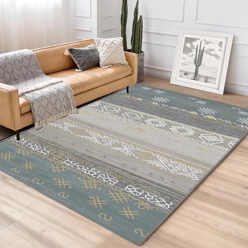 Simplicité Style nordique imprimé tapis grande taille haute qualité maison tapis moderne salon tapis nordique Ins motif géométrique tapis - 3