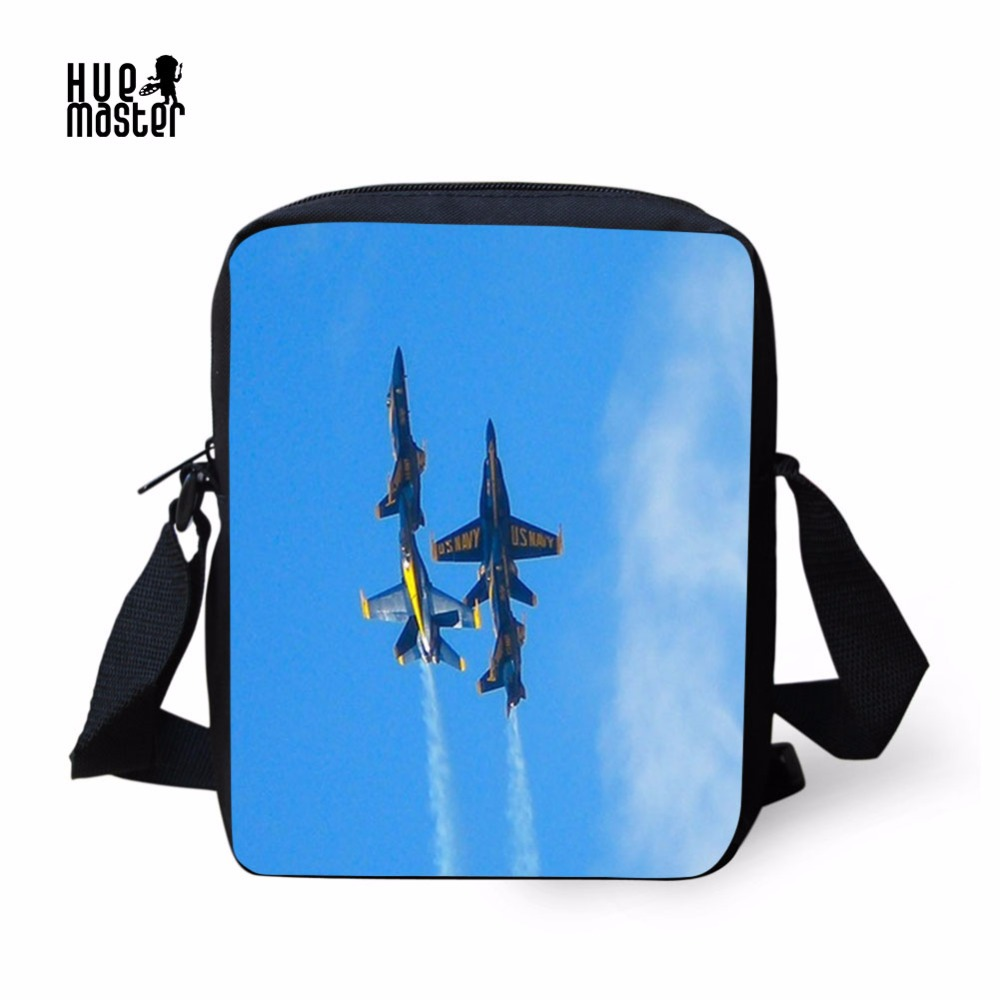 Small Men Bag Aircraft Printing Messenger Bag Business Casual Briefcase Crossbody Bag with Zipper Pocket Male Shoulder Bags