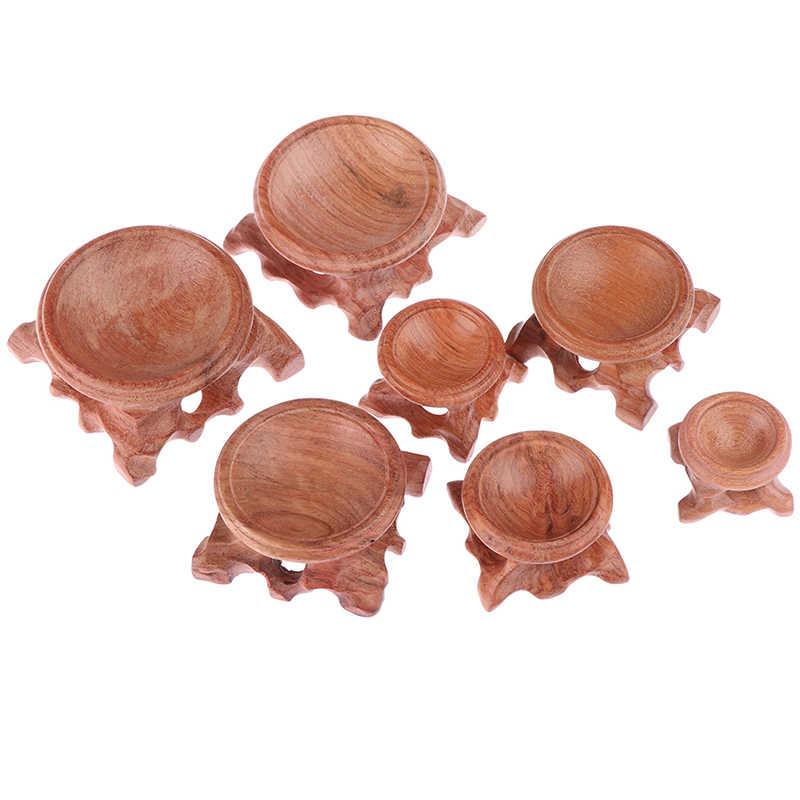 ทนทาน Miniature Retro Acid สาขาไม้ขาตั้งฐานสำหรับคริสตัล Ball Sphere Globe หินคริสตัล Ball Home Decor