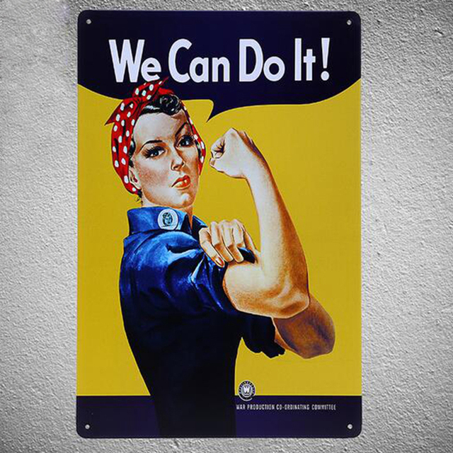 Vintage Style We Can do It ! Decorative Metal Signs 20x30cm iron ...