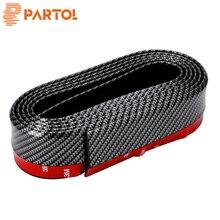 """Partol 52mm 2 """"2.5 m Auto-Styling Lip Pannello Esterno Protector Molding Trim Striscia Imitazione Fibra Cabon Esterno decorazione Per I Camion Suv"""
