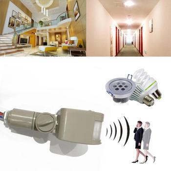 цена на LED Motion Sensor Switch 220V Automatic Infrared PIR Movement Detector Wall Mount Outdoor Sensor Light Switch