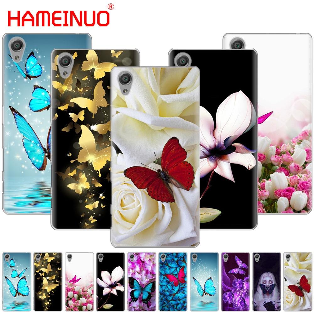 Чехол для телефона с бабочкой и белыми розами для sony xperia z2 z3 z4 z5 mini plus aqua M4 M5 E4 E5 E6 C4 C5